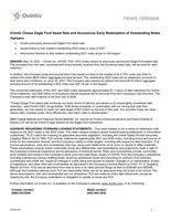 Ovintiv Closes Eagle Ford Asset Sale and Announces Early Redemption of Outstanding Notes (CNW Group/Ovintiv Inc.)