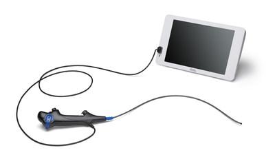 EXALT Model B Bronchoscope and Monitor (PRNewsfoto/Boston Scientific Corporation)