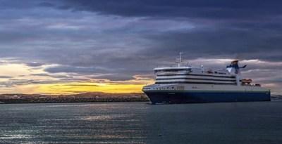 Marine Atlantic ferry at sea at dusk (CNW Group/Unifor)