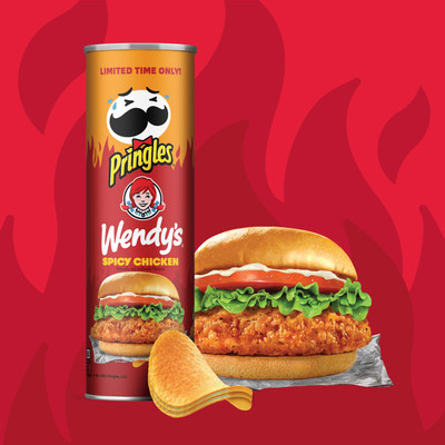 New Limited-Edition Pringles® Flavor Gives Wendy's® Spicy Chicken Sandwich Lovers a New Reason to Drive Thru the Snack Aisle