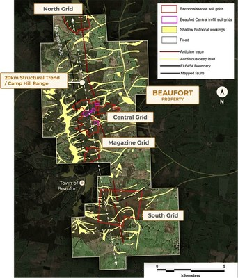 Figure 1 – Exploration License EL006454 – showing the location of the Central soil grid (CNW Group/E79 Resources Corp.)