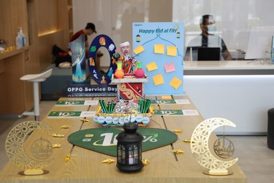 To share happiness and wishes, OPPO celebrates Eid al-Fitr with customers at its service centers