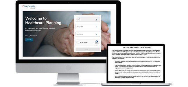 Iris Empower, a user friendly and intuitive self-guided Advance Care Planning platform
