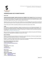 ShaMaran March 2021 Payments Received (CNW Group/ShaMaran Petroleum Corp.)