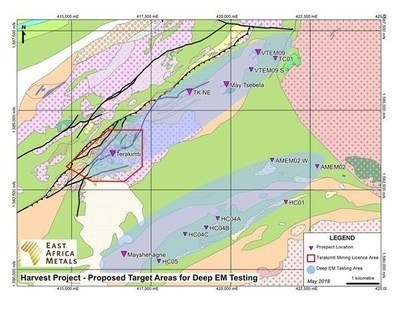 The Terakimti, VEM09 and Mayshehagne Exploration Targets (CNW Group/East Africa Metals Inc.)