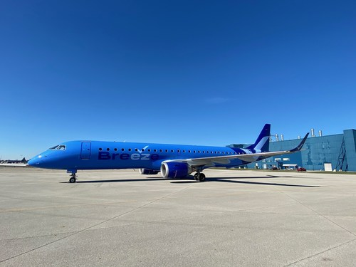 Breeze will operate a fleet of 13 Embraer e-jets ahead of Airbus A220 aircraft arriving from October.