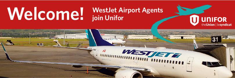 WestJet Airport Agents join Unifor (CNW Group/Unifor)