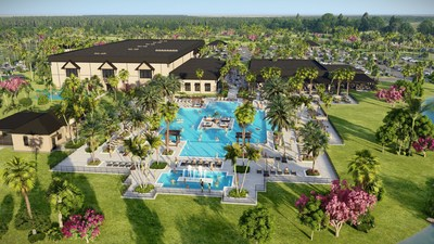 Cameratta Companies, Lennar, and Pulte Homes announce that model homes are now under construction at the new master planned community of Verdana Village in Estero, FL. The community is planned for 2,400 single-family homes and will include a Sports Complex unlike anything seen before in Southwest Florida. Outdoor amenities will include a resort style pool, oversized heated spa, expansive pool deck, tennis courts, a practice tennis court with ball machine, pickleball courts, racquet sports pro-shop, bocce courts, a playground, and a dog park.