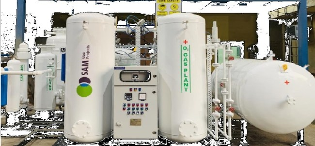 Image of an oxygen generation plant from one of Sewa's suppliers