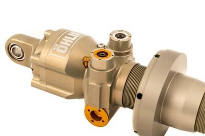 Öhlins TTR with integrated adjustable compression blow-off valve