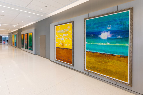 Artworks from Gallery Guichard on display at Sterling Bay's One Two Prudential Plaza.