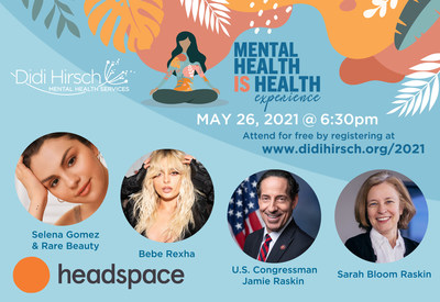 Didi Hirsch Mental Health Services Inaugural Mental Health Is Health experience streaming May 26, 2021