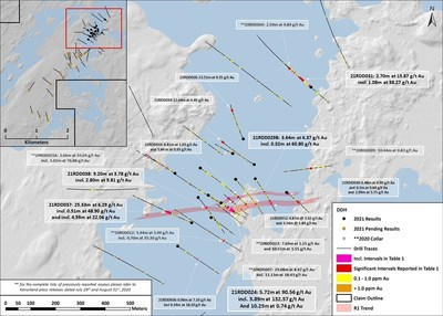 Figure 1. Plan Map of Reported Drilling (CNW Group/Kenorland Minerals Ltd.)
