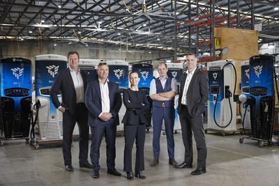 De izquierda a derecha: David Toomey, director de ingresos; Michael Hipwood, director financiero; Jane Hunter, director ejecutivo; James Kennedy, cofundador y director de tecnología; Dr.David Finn, cofundador y director de crecimiento