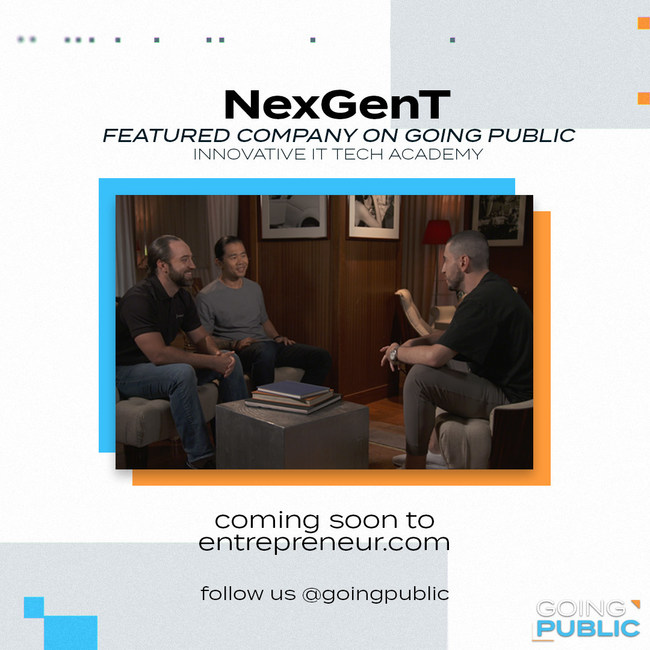 NexGenT Founders Jacob Hess (left) and Terry Kim (center) with series mentor Josh Snow (right)