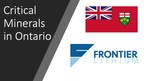 Frontier Lithium to receive funding from Ontario Government for Lithium Chemicals Mini Pilot Project