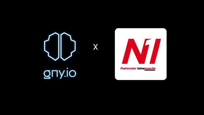 GNY.io and N1 Supermarkets Partnership Logo