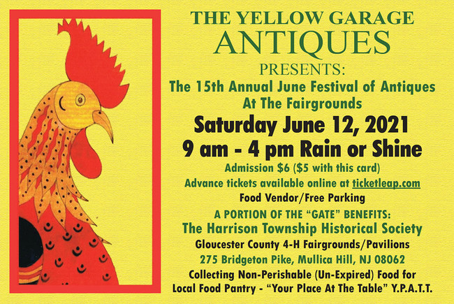 15th Annual Festival of Antiques Show Card