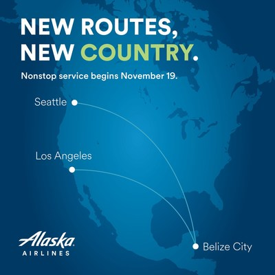 Starting Nov. 19, Alaska will fly nonstop from both Los Angeles and Seattle to Belize City, a new international destination.