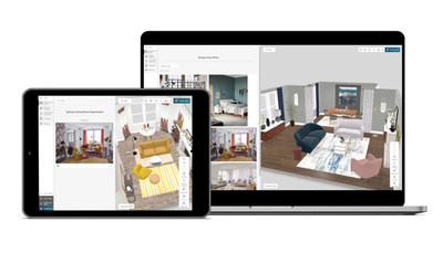 Consumers can build their dream spaces quickly and easily without a learning curve and without browsing through large catalogs.