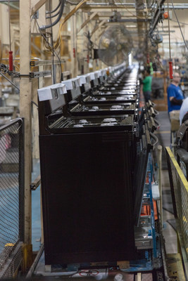 Manufacturing line in Whirlpool Corporation's Tulsa, OK factory