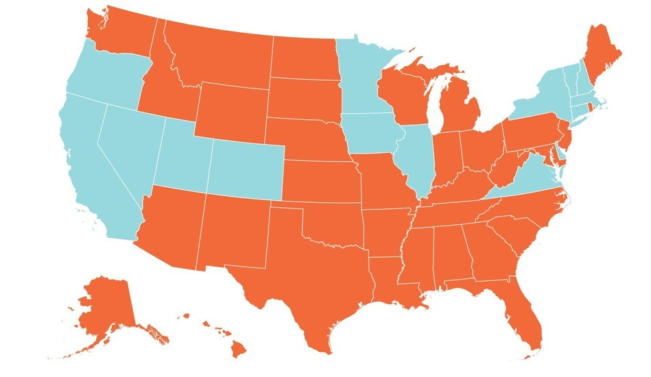 Institute for American Police Reform Map of State Laws on Police Use of Deadly Force