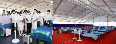 MEIL Established Covid Bed Hospitals in Tamilnadu