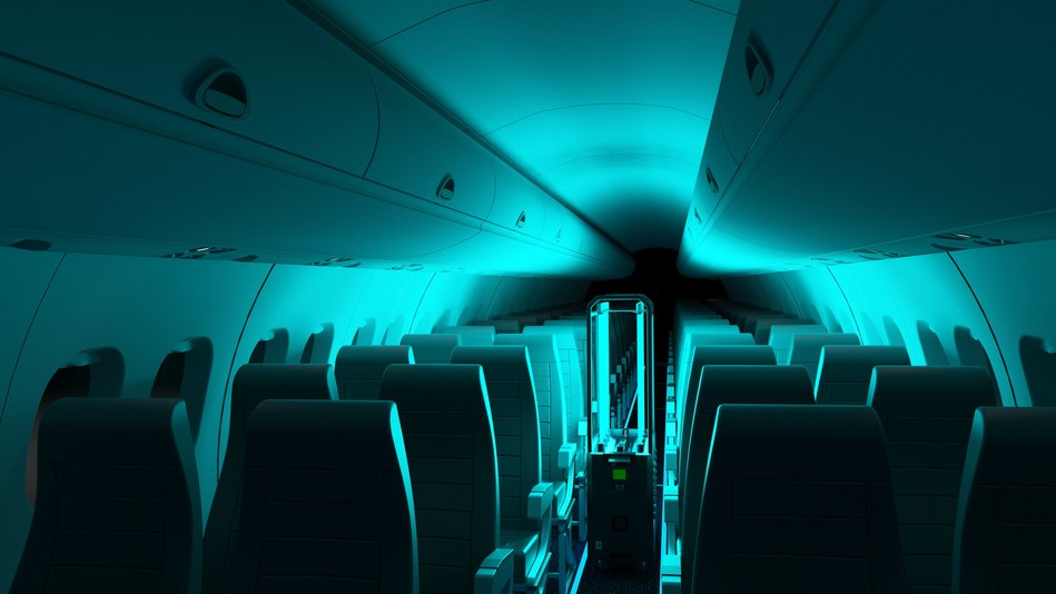 Image of RAY in Cabin of Dash 8-100 Aircraft (CNW Group/De Havilland Aircraft of Canada)