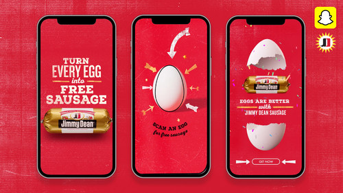 On National Egg Day, June 3, use the exclusive Jimmy Dean brand Snapchat lens to turn a fresh egg into a free roll of Jimmy Dean sausage.