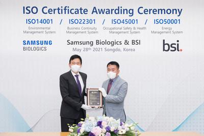 Samsung Biologics ISO Certificate Award Ceremony