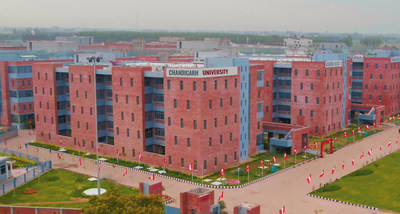 A glimpse of the campus of Chandigarh University at Mohali