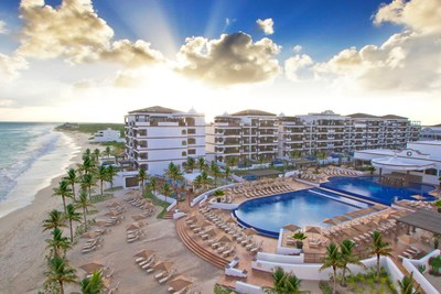 Wyndham Hotels & Resorts is elevating individuality with the launch of Registry Collection Hotels, the Company's newest brand and its first to cater to independent-minded luxury hotel owners around the world. Above, phase one of the brand's flagship property, the five-star, luxury Grand Residences Riviera Cancun, a Registry Collection Hotel.