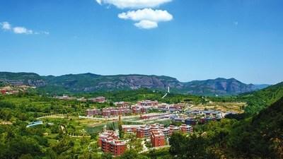 Uma vista da cidade de Zhaojin, no município de Tongchuan, província de Shaanxi no noroeste da China. /Governo da Cidade de Tongchuan (PRNewsfoto/CGTN)
