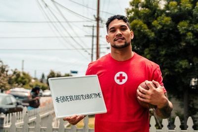 Football star and cancer survivor James Conner calls on Americans to Give Blood to Give Time.