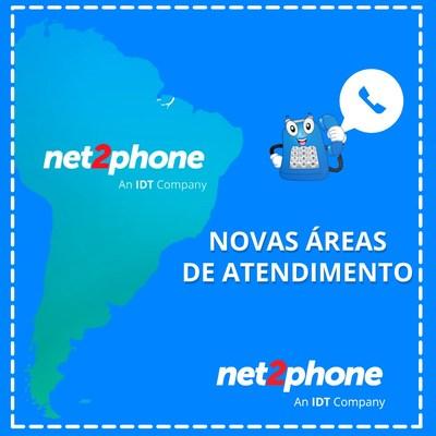Salvador (Bahia), Florianópolis (Santa Catarina), Brasília, Recife (Pernambuco), Fortaleza (Ceará) and Manaus (Amazonas) are the new service areas for net2phone.
