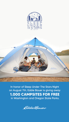 Eddie Bauer is giving away 1,000 campsites across Washington and Oregon State Parks to promote accessibility to the outdoors for all people.