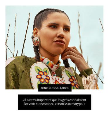 Michelle Chubb - « Il est très important que les gens connaissent les vrais autochtones, et non le stéréotype. » (Groupe CNW/Sephora Canada)