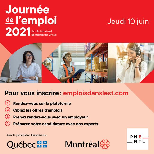 Journée de l'emploi de l'Est 2021 (Groupe CNW/PME MTL Est-de-l'Île)