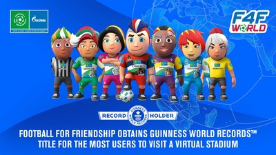 F4F obtains new GUINNESS WORLD RECORDS™ title (PRNewsfoto/Gazprom International Children's Social Programme Football for Friendship)