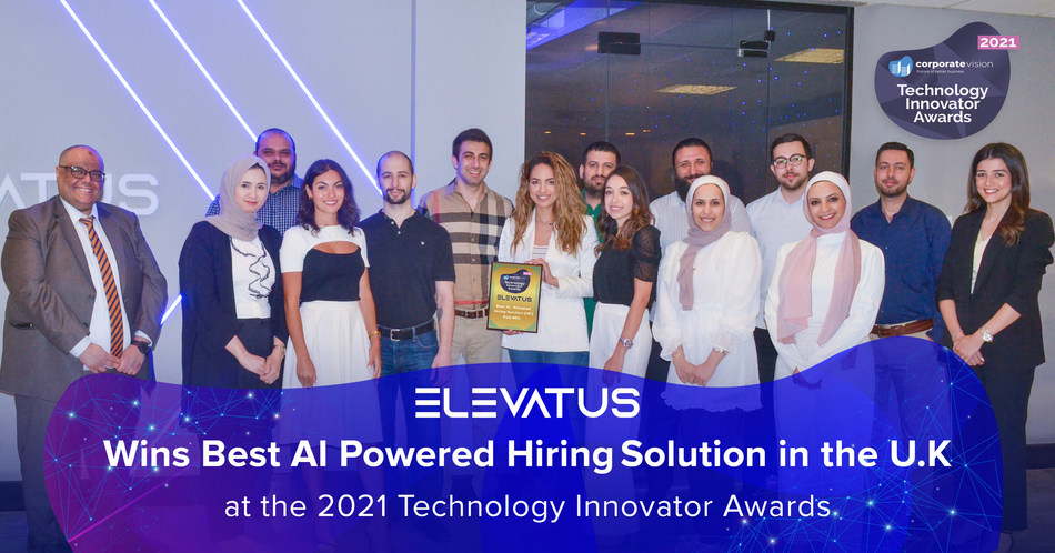 ELEVATUS Wins Best AI Powered Hiring Solution in the United Kingdom at the 2021 Technology Innovator Awards (PRNewsfoto/Elevatus Inc)