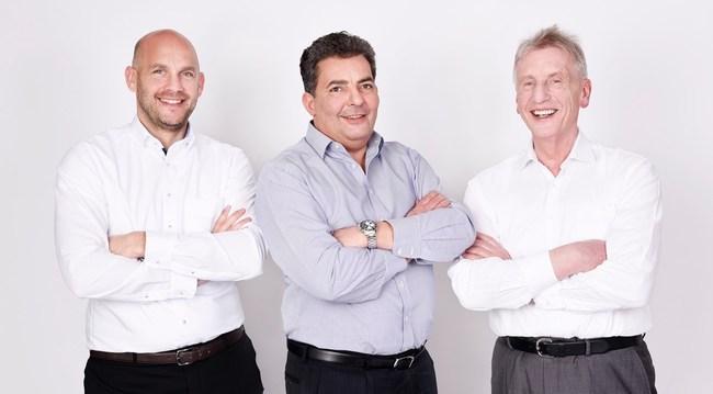 Sebastian Heinz CSO, Thomas L? Tzenrath COO, G? Nther Hambitzer PDG