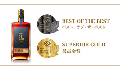 "Kavalan 10th Anniversary Sky Gold Wine Cask Matured é o uísque puro malte ""Best of the Best"" da TWSC de 2021"