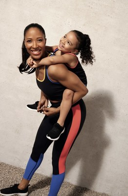 Photo Caption: Sasha Exeter and daughter Maxwell wearing the Joe Fresh x Sasha Exeter collection (CNW Group/Loblaw Companies Limited - Joe Fresh)