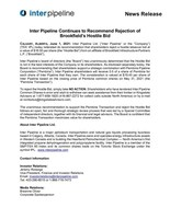Inter Pipeline Continues to Recommend Rejection of Brookfield's Hostile Bid (CNW Group/Inter Pipeline Ltd.)