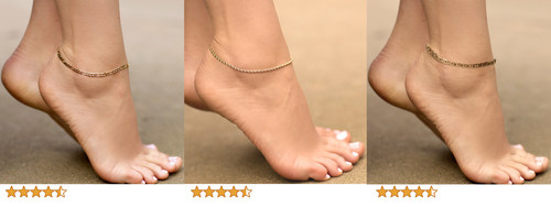 Three popular women's ankle chains for summer 2021