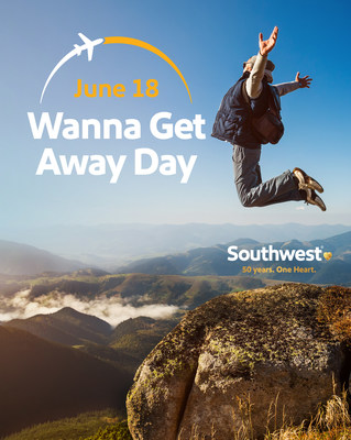 Southwest Airlines Declares June 18 as Wanna Get Away Day to Honor 50th Anniversary of First Flight