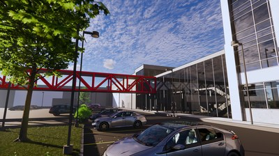 Partial rendering of the Yourway New Expansion building