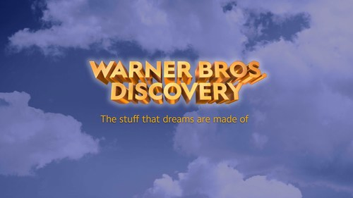 """The initial& """"Warner Bros. Discovery""""& wordmark for the proposed company."""