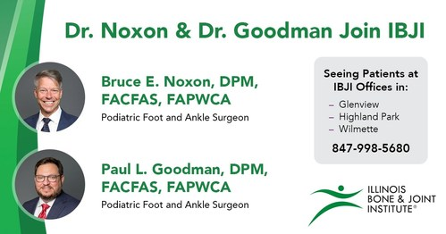 IBJI is proud to welcome Dr. Bruce Noxon and Dr. Paul Goodman to its IBJi Glenview, Highland Park and Wilmette offices as of June 1, 2021.