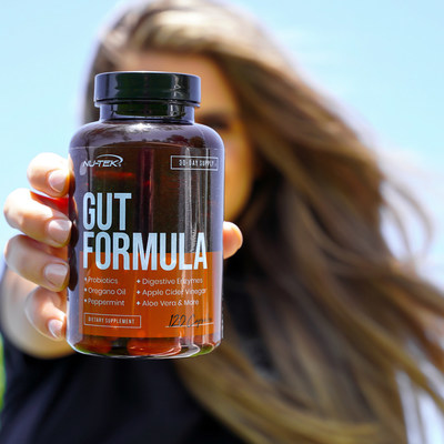 Gut Formula by NU-TEK Nutrition is available exclusively at NUTRISHOP stores and online at NutrishopUSA.com.